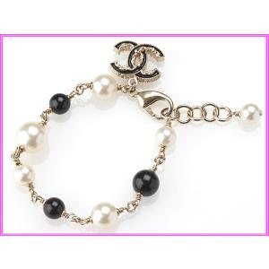 CHANEL シャネル A63010 ココマーク付き ブラックボール X コスチュームパール ブレスレット|perlei