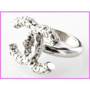 CHANEL シャネル A63365 アートモチーフ シルバーカラー ココマーク リング 指輪|perlei