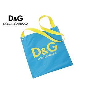 D&G ドルチェ&ガッバーナ バッグ DOLCE&GABBANA ディー&ジー ビニール製ロゴ入りブルーマチ無しショルダーバッグ 小 ドルガバ perlei