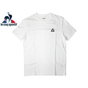 ルコック スポルティフ LE COQ SPORTIF Tシャツ 1711587 Marshmallow ロゴマークプリント入り マシュマロ オフホワイト系 コットン メンズ 半袖 Tシャツ|perlei