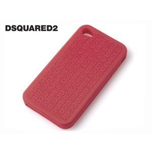 DSQUARED2 W12 IT5011 V337 42 ロゴ柄 レッド系 シリコン iPhone 4 用 保護ケース アイホン4 カバー|perlei