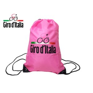 ジロ デ イタリア ナップサック GIRO D'ITALIA ジロ.デ.イタリア ロゴマーク絵柄入り ピンク ナイロン ナップサック リュックサック バックパック|perlei