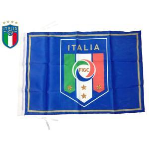 FIGC イタリアサッカー連盟 Federazione Italiana Giuoco Calcio FIGC ロゴマーク絵柄入り オフィシャル フラッグ サポーター向け スモール 応援旗 旧モデル|perlei