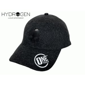 ハイドロゲン 253720 BLACK ブラック スカルマーク入り ブラック系 シームレス ベースボール キャップ 野球帽|perlei