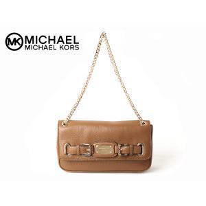 マイケル マイケルコース 35H0GHML1L LUGGAGE HAMILTON ロゴプレート付き ブラウン系レザー チェーン ショルダーバッグ|perlei