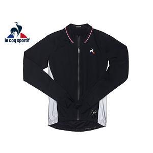 ルコック スポルティフ 1710974 BLACK ツール.ド.フランス ロゴマーク入り ブラック メンズ ソフトシェル ジャケット M|perlei