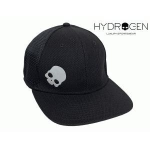 ハイドロゲン RG3005 BLACK BASKET CAP グレー系 スカルマーク入り ブラック ハーフメッシュ ベースボール キャップ|perlei