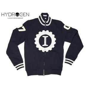 ハイドロゲン HYDROGEN LG0003 BLACK ロゴ入りガレージイタリアカスタムブラックスウェットジャケット S|perlei