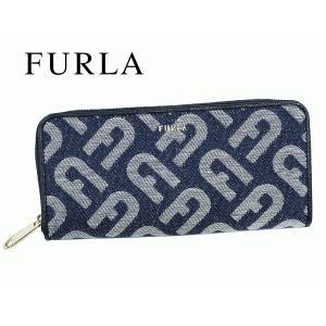 フルラ FURLA 1028284 P PAU4 B30 GLENDA FRESIA f Fロゴ入り リボン付き フレシア ピンクパープル系レザー L字 ラウンドジッパー ロング ウォレット 長財布 perlei