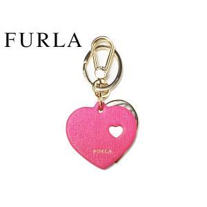 フルラ キーホルダー FURLA 956311 VENUS KEYRING ロゴ入り ピンク系レザーXゴールドカラーメタル ダブルハート ビーナス キーリング キーホルダー perlei