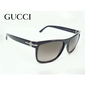 GUCCI グッチ 314980 J0740 1062 ロゴ入りプレート付き ブラック フレーム ウエリントン サングラス|perlei