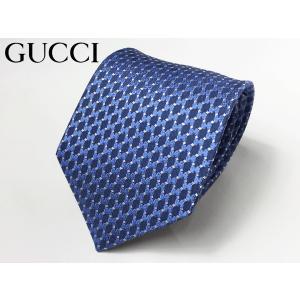 GUCCI グッチ ネクタイ 408865 4E002 4369 DEIENE ダークブルー系地 ブルー系 ドット インターロッキングG柄 ナロー ネクタイ|perlei