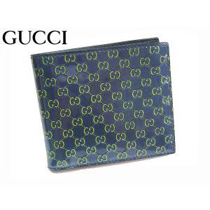 GUCCISSIMA グッチッシマ 145754 AR91R 4072 ネイビー地グリーン系 マイクログッチッシマ パテントレザー 二つ折り財布 両面カード収納モデル|perlei