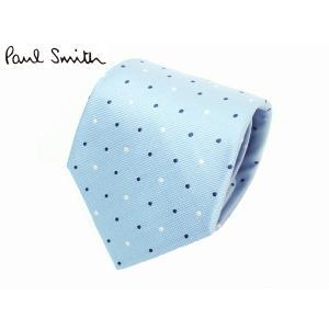 ポールスミス ネクタイ Paul Smith ANXA/552M/Y48 ブルー系地 ホワイト系Xブルー系 マルチカラー ピンドット柄 ネクタイ|perlei
