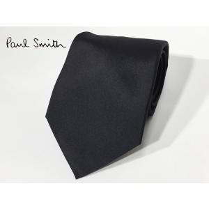 ポールスミス ネクタイ Paul Smith ASXC 552M PLAIN ブラック 無地 ネクタイ|perlei
