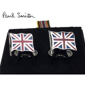 ポールスミス AUPC CUFF UJACK MEN CUFFLINK UNION JACK FLAG ロゴ入り イギリス国旗 ユニオンジャック フラッグ型 カフリンクス|perlei