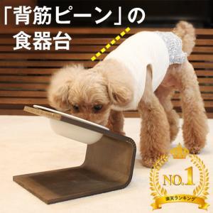 【犬 猫 食器 食器台】傾斜のある食器台(Lサイズ) ( 犬用 猫用 食器台 フード ボウル 食器 ...