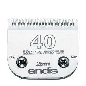 【アンディス正規品】Andis UltraEdge Blade 40 替刃 0.25mm 無料研ぎ券付 オースターA5互換|pet-dougu