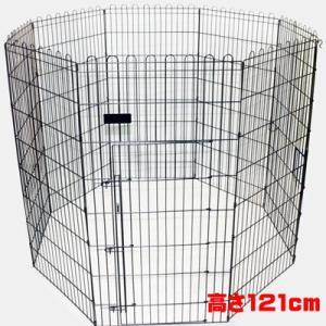 ペットサークル モビィペン48 高さ121cm ドア付 ブラック|pet-dougu