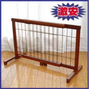 【ペット用品】木製 伸縮ペットゲート OA-G65 67から116cm|pet-dougu