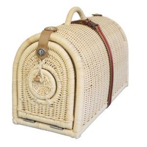 旅行用キャリーバッグ 籐製 ペットキャリーバスケット W1-L pet-dougu