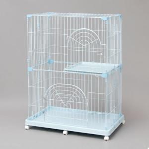 移動に便利なキャスター付き。全ての段に扉付きでペットや物の出し入れ簡単。猫がゆっくりくつろげる大きめ...
