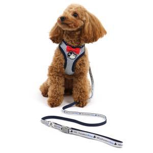 犬 リード ハーネス リードハーネス 犬用ハーネス 猫 おしゃれ かわいい ディズニー ミッキーマウス ヒッコリーリード付ハーネス4S・3S 小型犬 超小型犬|ペットパラダイス