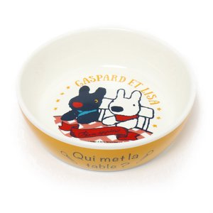 犬用品 ペットパラダイス リサとガスパール シンプル 陶器 えさ皿 犬 餌入れ 食器 犬用品