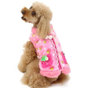 【まとめ割り対象】犬服 犬 服 ペットパラダイス 苺 背開き ジップ ベスト〔小型犬〕 背中 開き ...