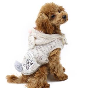 【まとめ割り対象】犬服 犬 服 ペットパラダイス スヌーピー うさちゃんパーカー〔小型犬〕 超小型犬...