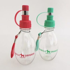 水漏れ防止ストッパー付き お散歩中の水分補給に わんちゃん用 お水携帯ボトル 220ml