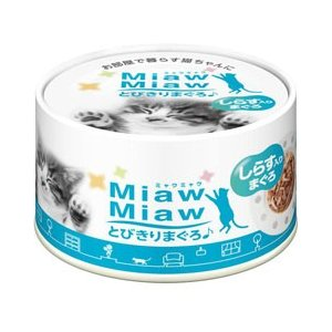 アイシア 猫缶 ミャウミャウ とびきりまぐろ しらす入り まぐろ 60g|pet-square-cat