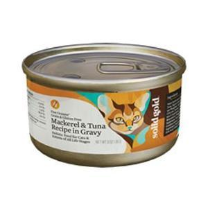 ソリッドゴールド 猫 キャットフード 缶詰 サバ&ツナ缶 85g|pet-square-cat