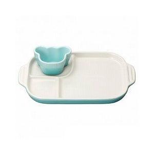 ルクルーゼ ベビー 食器 ストーンウェア マルチプレート&ラムカン パステルブルー(子供/赤ちゃん/ギフト/出産祝い) Le Creuset 日本正規品|pet-square-cat
