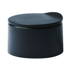 ideaco イデアコ ミニ チューブラー フラット20 キッチン用 卓上ゴミ箱 トラッシュカン ブラック マットカラー|pet-square-cat
