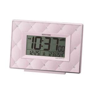 リズム時計工業 電波めざまし時計 フィットウェーブ アビスコ パールピンク 8RZ167SR13|pet-square-cat