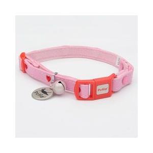 ヤマヒサ ペティオ 猫用首輪 CAT COLLAR ハートレザーカラー ピンク|pet-square-cat