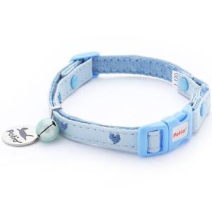 ヤマヒサ ペティオ 猫用首輪 CAT COLLAR ハートレザーカラー ブルー|pet-square-cat