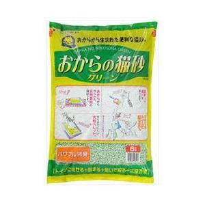 猫用品 常陸化工 猫砂 おからの猫砂 グリーン 6L|pet-square-cat