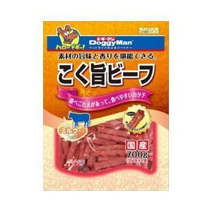ドギーマン 犬用おやつ こく旨ビーフ ミルク入り 700g(350g×2袋)