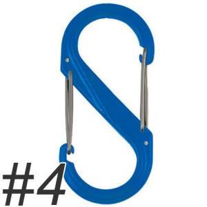 ナイトアイズ エスビナー プラスチック No.4 NI01120 ブルー (犬 カラビナ)|pet-square