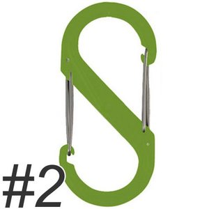 ナイトアイズ エスビナー プラスチック No.2 NI01141 ライムグリーン (犬 カラビナ)|pet-square