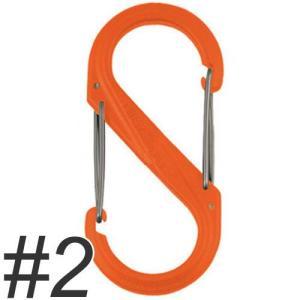 ナイトアイズ エスビナー プラスチック No.2 NI01142 オレンジ (犬 カラビナ)|pet-square