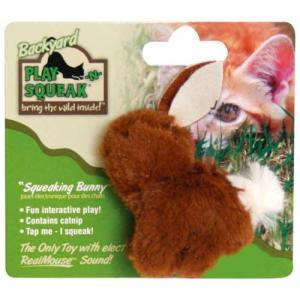 猫用品 スーパーキャット 猫用おもちゃ プレインスクイーク バックヤード ウサギ PN-03|pet-square