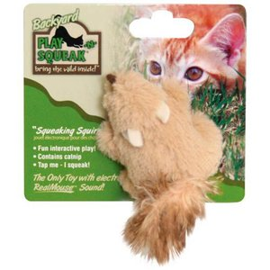 猫用品 スーパーキャット 猫用おもちゃ プレインスクイーク バックヤード リス|pet-square