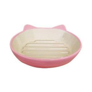 猫用品 猫 食器 イージーダイナー キャットディッシュ ピンク ペット フードボウル お皿|pet-square