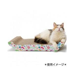 猫用品 SPORTPET 猫用 爪とぎ バリバリ ベッド L 花柄|pet-square