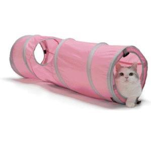 猫用品 SPORTPET キャットトンネル ピンク (キャットタワー 猫のおもちゃ)|pet-square