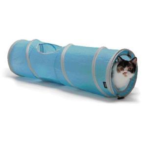 猫用品 SPORTPET キャットトンネル ブルー (キャットタワー 猫のおもちゃ)|pet-square