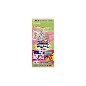 猫用品 デオトイレ 複数ねこ用 消臭・抗菌シート 8枚 ユニチャーム|pet-square